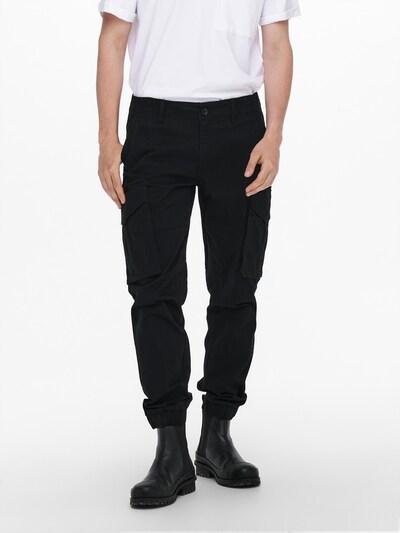 Pantaloni cu buzunare 'KIM' Only & Sons pe negru, Vizualizare model