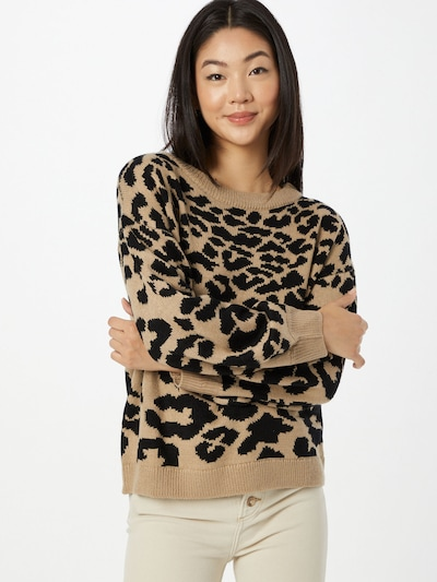 AX Paris Pullover in hellbraun / schwarz, Modelansicht