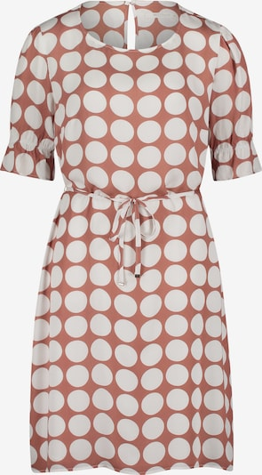 Betty & Co Sommerkleid mit Punkten in creme / braun, Produktansicht