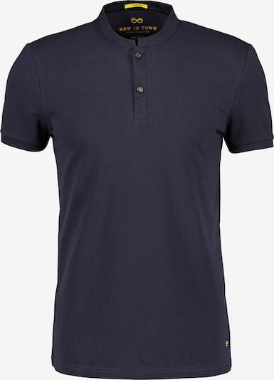 NEW IN TOWN Poloshirt mit Stehkragen in blau / navy / dunkelblau: Frontalansicht