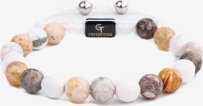 GT Collection Armband in de kleur Sand / Lichtbruin / Zilver / Wit, Productweergave