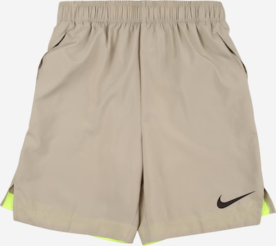 NIKE Sports trousers in kitt / neon yellow / black, Item view