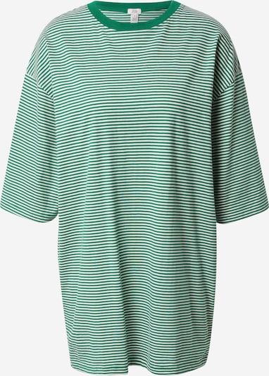River Island Široka majica u zelena / bijela, Pregled proizvoda