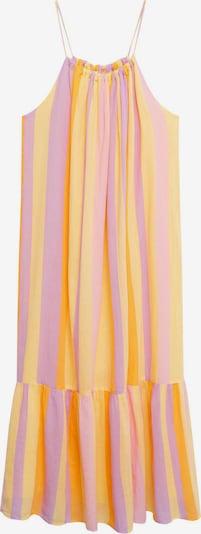 MANGO Kleid 'Niza' in honig / hellgelb / helllila / hellpink, Produktansicht