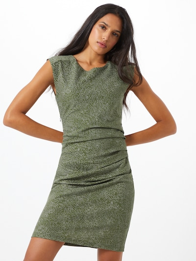 Kaffe Kleid 'India in oliv, Modelansicht