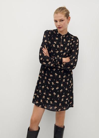 MANGO Kleid 'oslo' in beige / braun / schwarz, Modelansicht