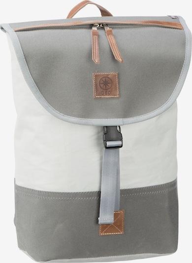360 Grad Rucksack in grau / weiß, Produktansicht