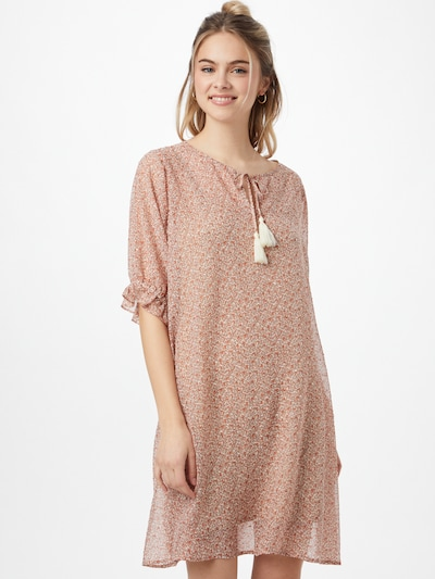 Cream Šaty 'Kinia' - hnědá / korálová / bílá, Model/ka