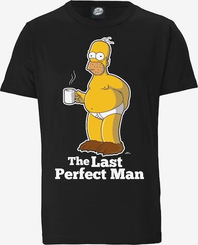 LOGOSHIRT T-Shirt 'The Simpsons' in braun / gelb / schwarz / weiß, Produktansicht