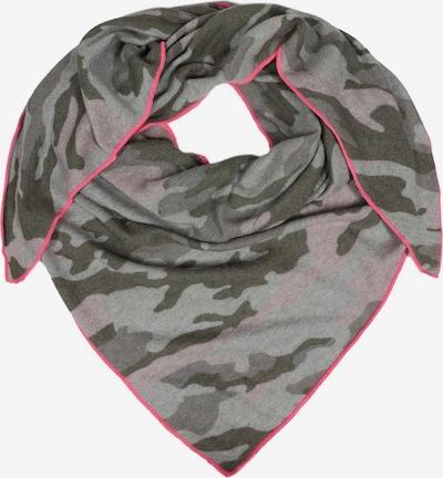 Zwillingsherz Tuch in grau / grün / tanne / pink, Produktansicht