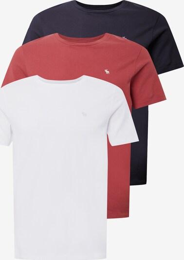 Abercrombie & Fitch Tričko 'SEASONAL' - námornícka modrá / jasne červená / biela, Produkt