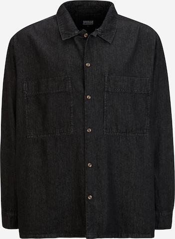 Urban Classics Plus Size Hemd in Schwarz