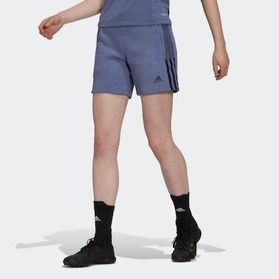 Pantaloni sport ADIDAS PERFORMANCE pe mov închis / negru, Vizualizare model