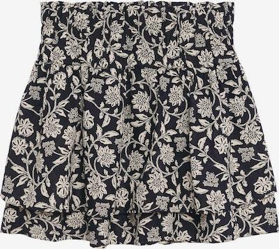 MANGO Skirt 'CORFU' in Black / natural white, Item view