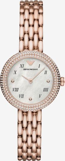 Emporio Armani Zegarek analogowy w kolorze różowe złoto / perłowo białym, Podgląd produktu