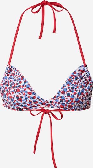 Tommy Hilfiger Underwear Bikini gornji dio u kraljevsko plava / crvena / bijela, Pregled proizvoda