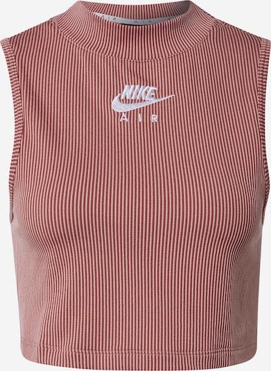 Nike Sportswear Top in pitaya / altrosa / weiß, Produktansicht