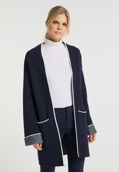 usha WHITE LABEL Pletený kabát - námornícka modrá / biela, Model/-ka