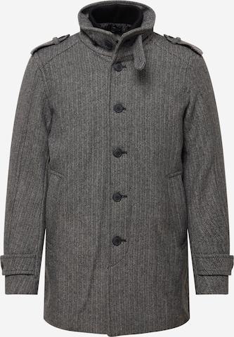 SELECTED HOMME Between-Seasons Coat 'NOAH' in Grey