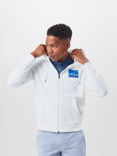 POLO RALPH LAUREN Sweat jacket in blue / white, View model