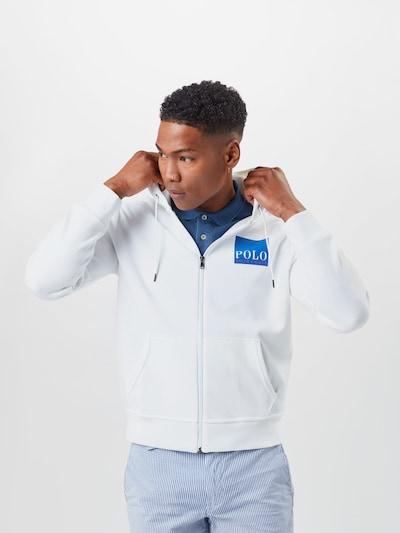 POLO RALPH LAUREN Bluza rozpinana w kolorze niebieski / białym, Podgląd na modelu(-ce)