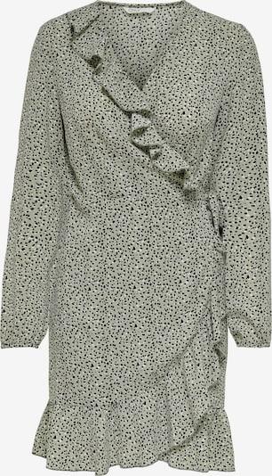 ONLY Kleid 'Carly' in schilf / schwarz / weiß: Frontalansicht