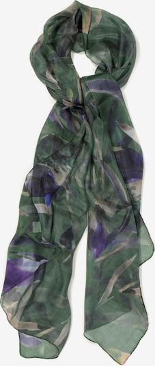 Ulla Popken Écharpe en beige / vert gazon / bleu violet, Vue avec produit
