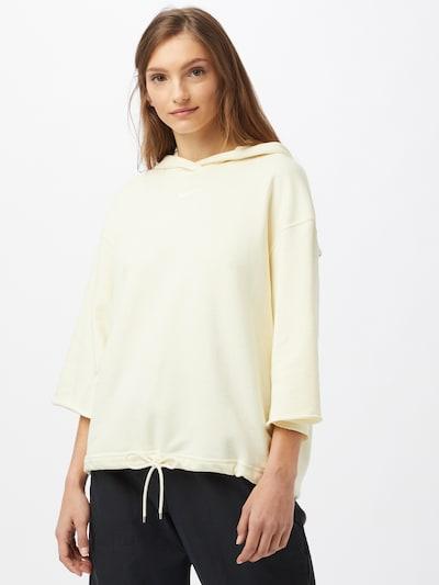 Nike Sportswear Sweatshirt in de kleur Natuurwit: Vooraanzicht