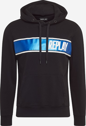 REPLAY Sweatshirt in blau / schwarz, Produktansicht