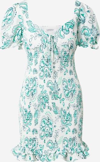 GLAMOROUS Vestido de verano en jade / verde oscuro / blanco, Vista del producto