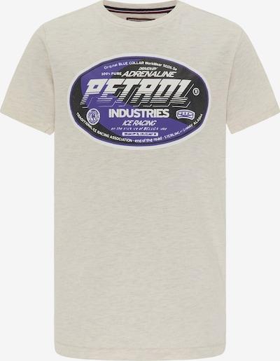 Petrol Industries Koszulka w kolorze ciemnofioletowy / czarny / nakrapiany białym, Podgląd produktu