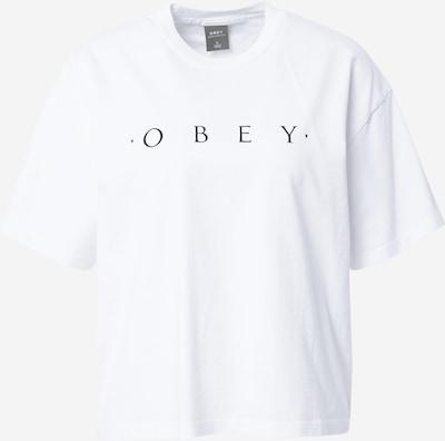Tricou 'Novel' Obey pe negru / alb, Vizualizare produs