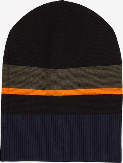 s.Oliver Muts in de kleur Donkerblauw / Bruin / Sinaasappel / Zwart, Productweergave