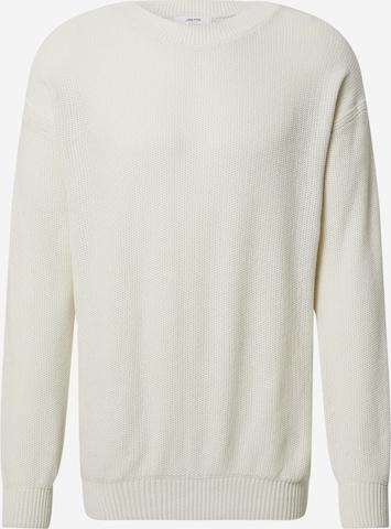 DAN FOX APPAREL Pullover 'Aron' in Weiß