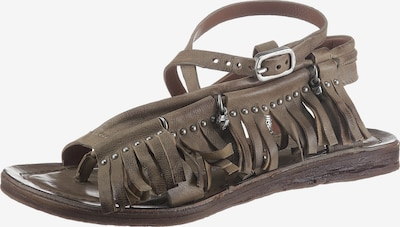 A.S.98 T-Bar Sandals in Brown, Item view