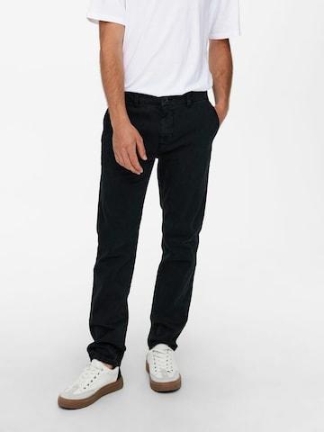 Only & Sons Chino-püksid 'Pete', värv must