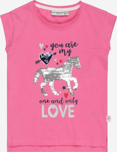 SALT AND PEPPER Тениска 'Riding' в сиво / тъмносиво / розово / червено, Преглед на продукта