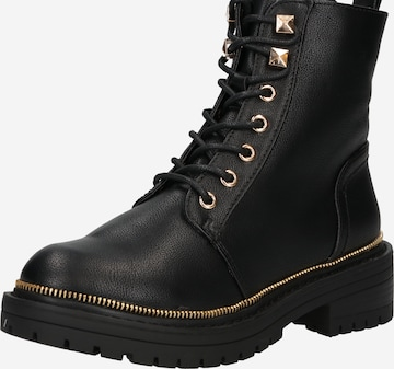 NEW LOOK Lace-Up Ankle Boots 'COSMOPOLITAN' in Black