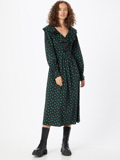 Rochie tip bluză 'Nicole' SELECTED FEMME pe verde deschis / negru, Vizualizare model