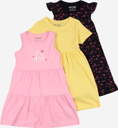BLUE SEVEN Kleid in nachtblau / gelb / pink / weiß, Produktansicht