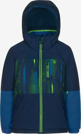 Kamik Outdoorjas 'GALAXY' in de kleur Navy / Donkerblauw / Neongroen, Productweergave