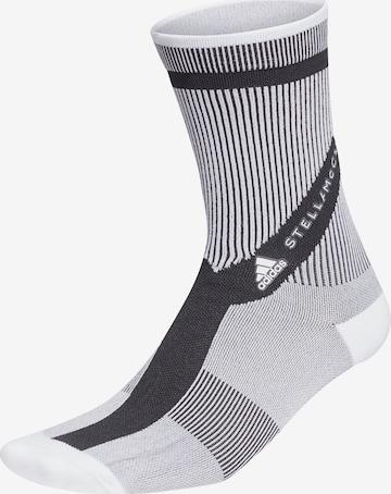adidas by Stella McCartney Spordisokid 'CREW SOCKS', värv valge