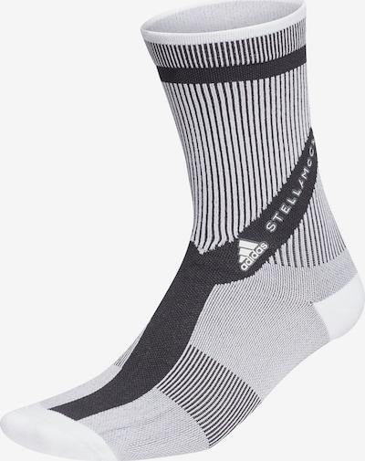 adidas by Stella McCartney Sportsocken 'CREW SOCKS' in schwarz / weiß, Produktansicht