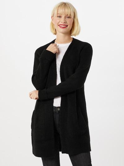PIECES Strickjacke in schwarz, Modelansicht