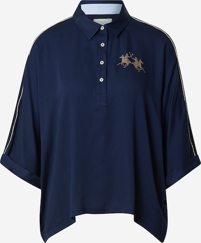 La Martina Bluse in navy / gold, Produktansicht