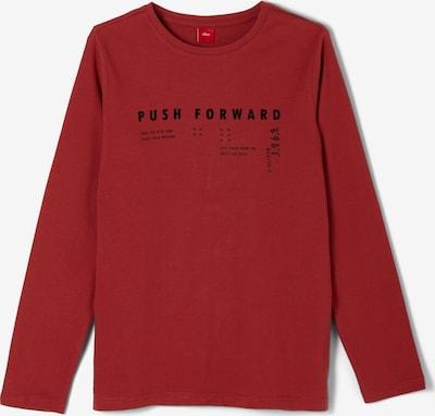 s.Oliver Shirt in rot / schwarz, Produktansicht