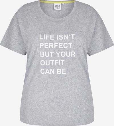 Rock Your Curves by Angelina K. T-shirt en gris chiné / blanc, Vue avec produit