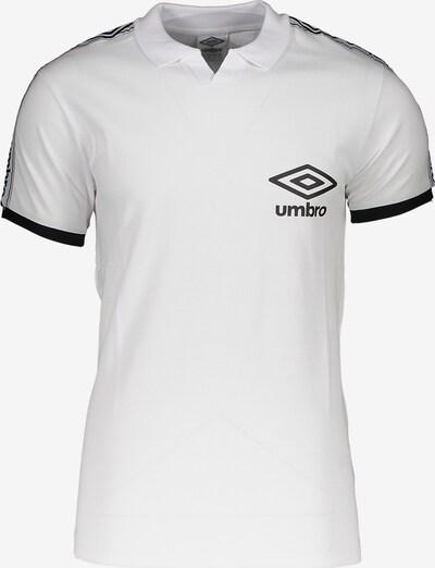 UMBRO Poloshirt in schwarz / weiß, Produktansicht