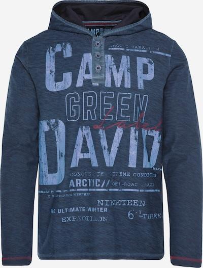 CAMP DAVID Leichtes Kapuzenshirt mit Logo Print in dunkelblau, Produktansicht