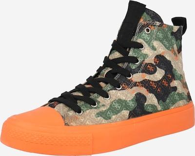 GUESS Kotníkové tenisky 'EDERLE' - béžová / zelená / oranžová / černá, Produkt